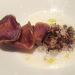 THE COSMOPOLITAN  - スープはダブルココに紫芋のスープを注ぎます!