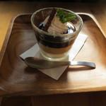カフェ アンジー - 3色のコーヒーゼリー(450円)