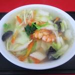 南京飯店 - 料理写真:前と変わらずに美味し! えびソバ(蝦仁湯麺)