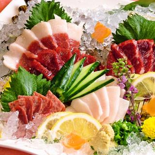 馬刺しをはじめ熊本郷土料理が充実