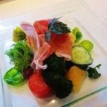 24292861 - 滋賀野菜のインサラータ、生ハム添え