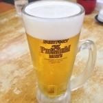 来来亭 - ドリンク写真:昼ビールまたやってもた