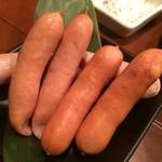 焼肉 正道 - ウインナー三種盛り