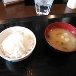 24295043 - 定食のご飯と味噌汁