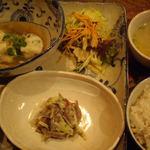 Natural Cafe&Gallery 蔵 - プリプリエビ団子と高野豆腐の冷しあんかけ