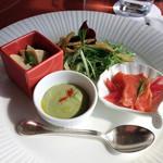 サザンコート - 小鉢のおばんざいと水菜のシーザーサラダ