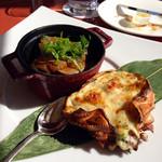 サザンコート - 牛フィレ肉のポワレ 和風ソース 蟹のグラタン柚子風味