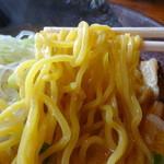 白樺山荘 - 麺アップ