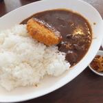 菊屋食堂 - カレー中¥600+コロッケ\100