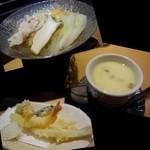 24310721 - 黒豚汁しゃぶ握り寿司ランチのセット料理