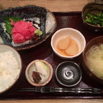 和食堂 穰(ゆたか) - 201310 日替わり定食700円(まぐろ中落ち)