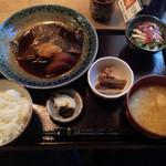 和食堂 穰(ゆたか) - 201309 煮魚定食980円(カレイ)