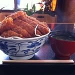 昭和園 - 2012/04/27 ソースかつ丼・2枚つき 大盛り