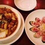 24319849 - 台湾腸詰 豚角煮と春雨の煮物