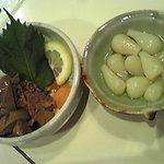THE あ・うん - レバーぽん酢と塩らっきょう