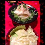 あぶり焼 もも蔵 - やみつき塩キャベツ♡大根山芋サラダ♡