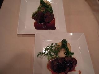 ALLT GOTT - トナカイ肩肉の赤ワイン煮込み&仔鹿肉のロースト