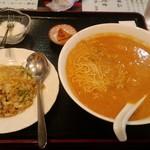 24325431 - 担々麺定食(炒飯、漬物、デザート付)