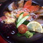 和食処 大藤 - 大漁海鮮の内容。