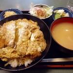 長寿庵水天宮店 - 「かつ丼(並)」900円也。税込。