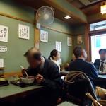 長寿庵水天宮店 - 狭い店内。
