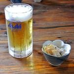 そばしん - 料理写真:生ビール(中)580円