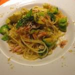 ピノッキオ - パスタランチE¥1,400桜エビと芽キャベツのイタリア産カラスミのスパゲッティーニ