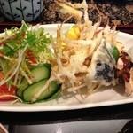 日本料理 ひさの - 小丼セットのおかずプレート