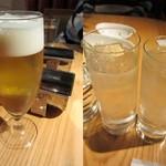 ユウアン - キリン一番搾りグラス(330ml)¥580/ジントニック¥630