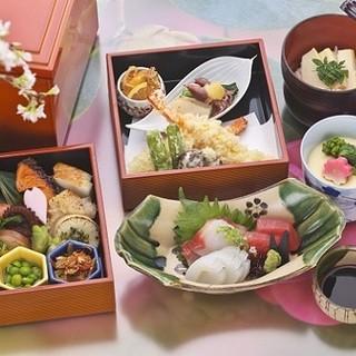 上春慶(しゅんけい)5400円・刺身・茶碗蒸・筍御飯