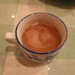 ベトナム料理専門店 サイゴン キムタン - ベトナムコーヒーはあらかじめコンデンスミルクが混ぜられていました