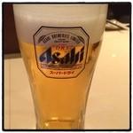 遊食旬菜 蔵 - ドリンク写真:皆様お疲れ様です。 190円の生ビールです。 本日もありがとうございました。