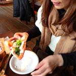 ミルク工房そら - 寿司食ってピザ食ってうどん食って、、、(笑)