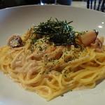 Pasta & Cafe PASTA LA VISTA - やりいかとえのきの明太クリーム スパゲティーニ