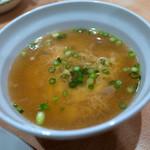 ドライブイン鳥 - とりスープは単品なら230円。