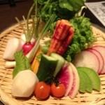 翔 - 久々ビジネスパートナーと一杯。 野菜盛り。