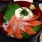 いちばん - 2013.11  鮭とろろ丼アップ!
