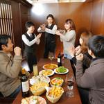日比谷Bar - お客様のシェーク体験