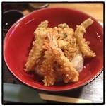 天ぷら かつみ - 天丼。 世間で天ぷらが話題なので。 かき揚げが美味い。米は微妙。 光村のが好きだな。