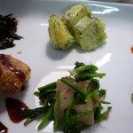 ナチュラルレストラン&デリ みどりえ - れんこんと青菜、ジャガイモのジェノベーゼ