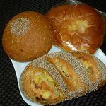 24352891 - あんフランス 180円、サツマイモフランス 190円、ぎっしりクリームパン 150円