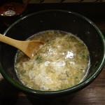 麺屋かまし - スープ割