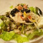とり道楽 - 2014.2.10 おぼろ豆腐サラダ