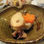 菜の花 - 水ダコと里芋の煮物