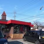 紅一点 - お店の外観。日光街道沿いにあります