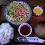 七福お食事処 - 野菜炒め定食 \680,このボリュームは…良い!