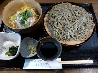 はるきや - 美桜鶏のミニ親子丼セット(2014/02/19撮影)