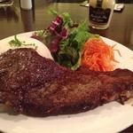 ビルボケ - 牛ロースのステーキ ライス添え