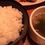 24358577 - ライス(小)とスープ