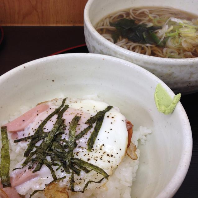 てっちゃん - 目玉焼き丼セット(そば)